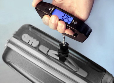 Small Travel Scale For Luggage With Blue Display