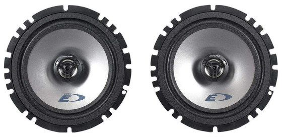 x2 Black Round Coaxial Car Speakers