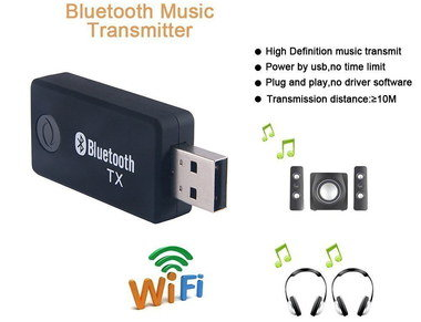 Bluetooth Adapter For PC With Black Speakers