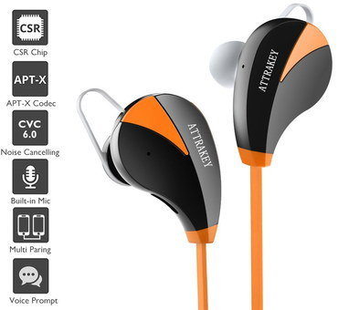 Value In Ear Headphones With Orange Wire