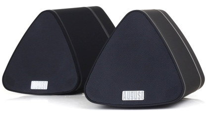 2 Portable Wireless Speakers In Triangle Shape