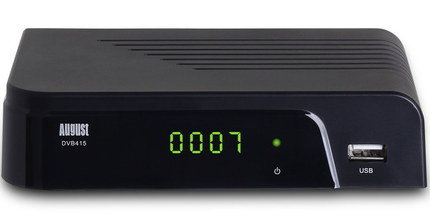 TV Recordable Freeview Box With Yellow Digit On Screen