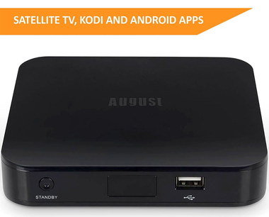 Android TV Set Top Box Freesat In Black Finish