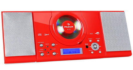 Smartphone Congenial CD Music Player In Bright Red