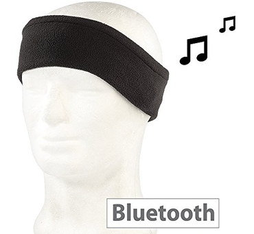 Headphones To Sleep In Soft Black Textile