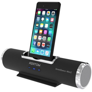 Chic iPod Docking Station Speakers With Black Smartphone