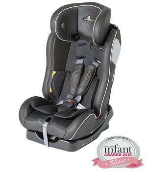 Grey Rear Car Seat For Toddlers With Logo