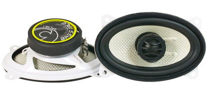 Car Door Audio Speakers On White Desk