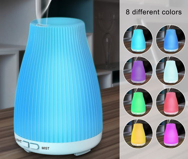 Ultrasonic Air Humidifier With Curved Cover