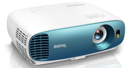 4K Media Projector In Blue And White