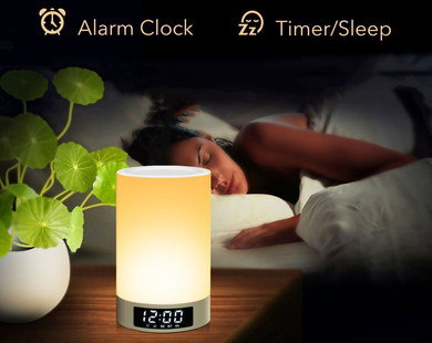 Bluetooth Speaker Light Showing LED Clock