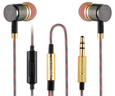 Sports In Ear Earphones With Gold Tips
