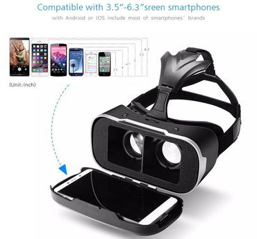 Smartphone VR Headset With Black Straps