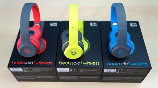 Red, Yellow And Blue Headphones