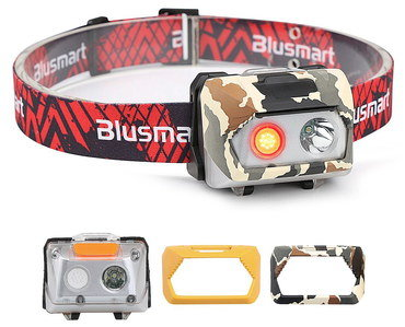 COB LED Brightest Head Torch In Red