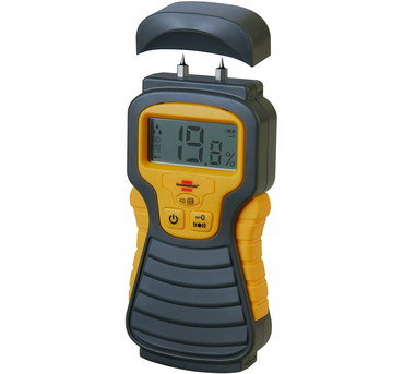 Wood Moisture Meter In Green And Yellow