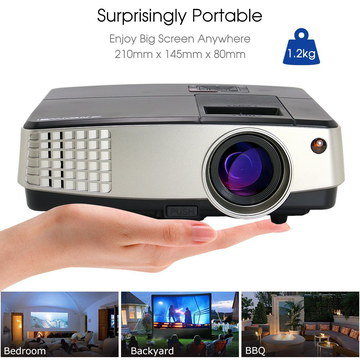Multi-Media Laptop Projector With Yard Image