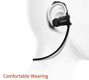 Wireless Headphones In Ear With Black Cable