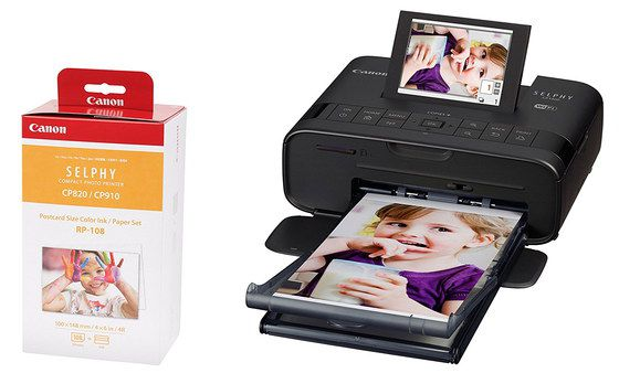 Small Photo Printer In Smooth Black