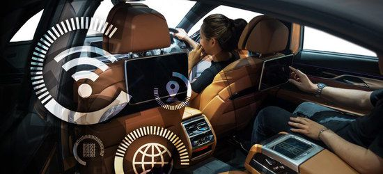 Car With Driver Connected To WiFi
