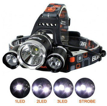Trail Running Head Torch With 3 LED's