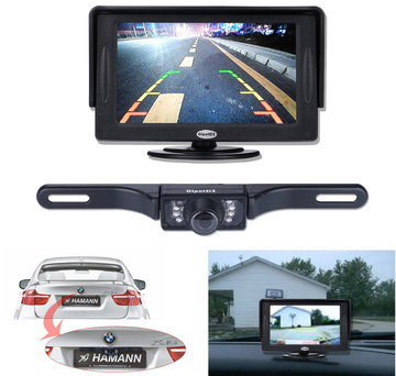 4.3 Inch Backup Car Reversing Camera With Black Border