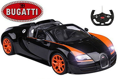 Bugatti Battery RC Car In Black And Red