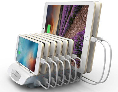 Phone Charging Station With 8 Slots