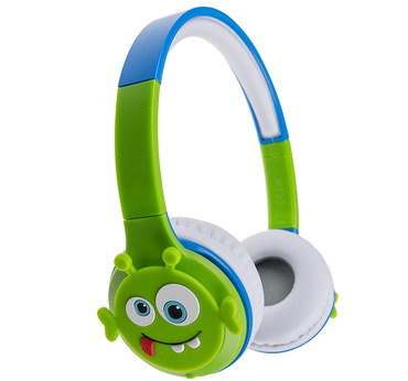 Wireless Kids Headphones With Funny Round Face