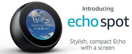 Echo Spot In Black With Display