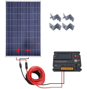 Campervan Solar Panel With Black And White Exterior