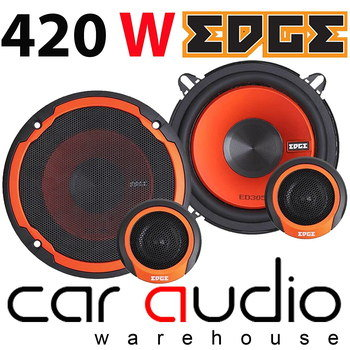 Audio Car Door Speakers In Black And Red