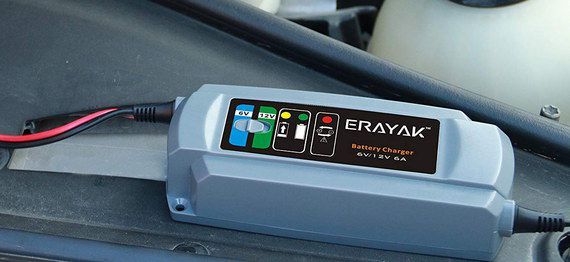 Car Battery Charger In Blue Finish