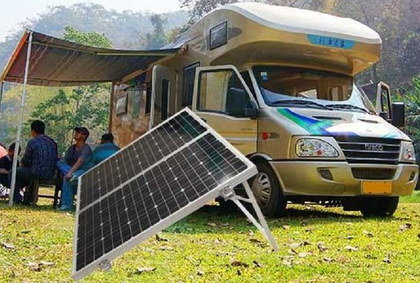 120W Caravan Solar Panel With Solid Leg Frame