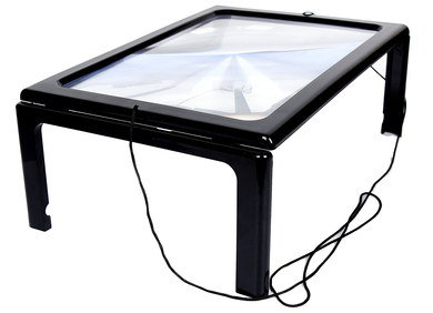 LED Magnifier Glass With Light And 4 Black Feet
