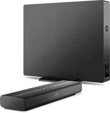 Wireless Small Sound Bar With Subwoofer In All Black