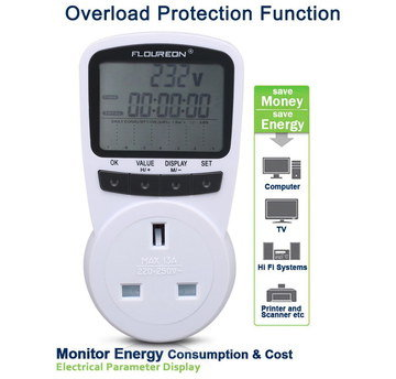 Household Electricity Monitor 3 Pin Style