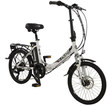 Fold-Up Electric Bike In Black And White