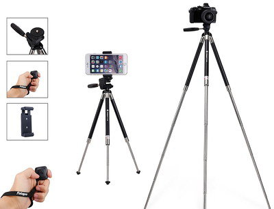 Bluetooth Tripod For iPhone With Black Clicker