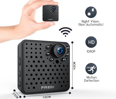 Small Black Camera With Motion Detection