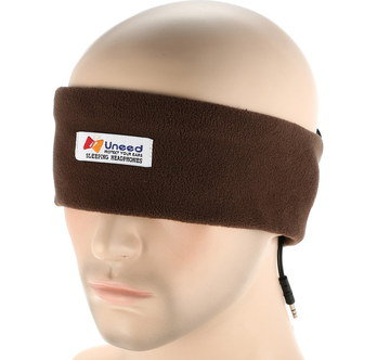 Light Sleeping Headband Headphones In Brown