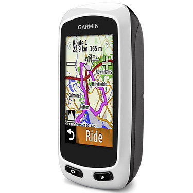 GPS Bike Computer Showing Blue Road Map