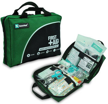 Car First Aid Kit In Green And Black