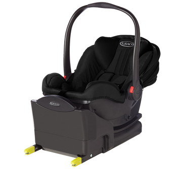 Rearward Facing Car Seat With Black Handle