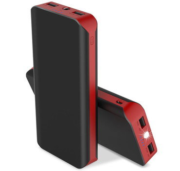 Phone Battery Pack In Black And Red