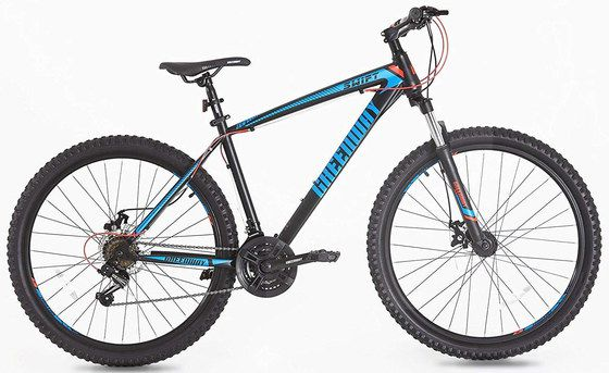 Mountain Bike With Black Steel Frame