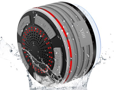 Bathroom Bluetooth Speaker Surrounded By Water Drops