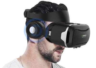 Portable Cheap VR Headset With Big Ear Cups