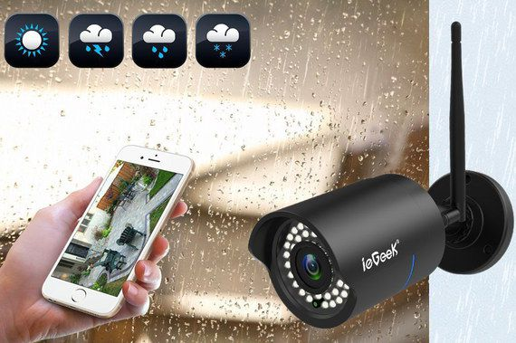 Outdoor IP Camera In Rainfall