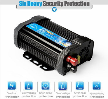 12V Power Inverter For Sale With Blue Sticker